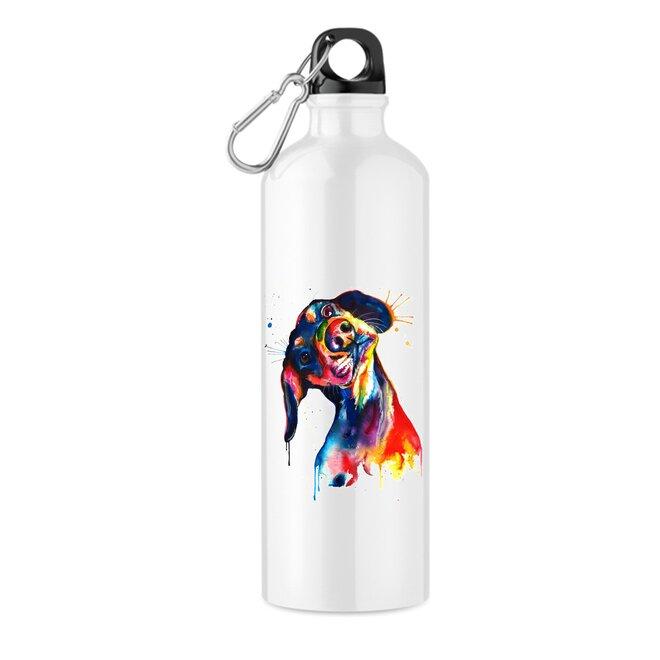"""550 ml Turistická fľaša """"Farebný pes"""""""