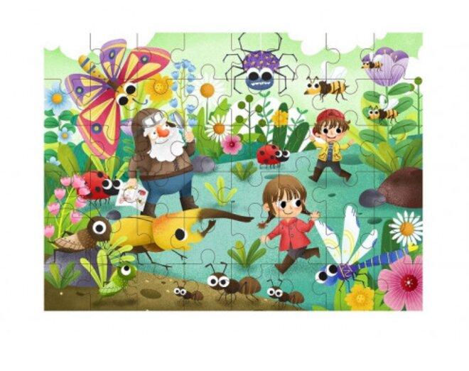 Drevené puzzle s detským motívom (hmyz)