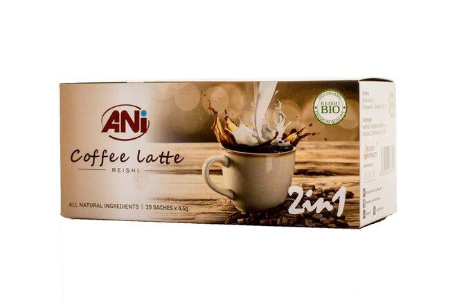 1 x 90 g Instantná káva s hubou Reishi ANi Coffee Latte 2v1