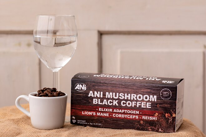 20 x 3 g Instantná káva ANi Mushroom Elixir Coffee (60 g)