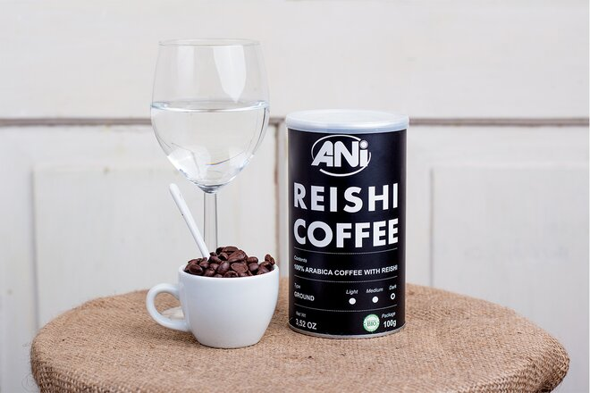 100 g Mletá káva ANi s Reishi hubou 100% brazílska Arabica