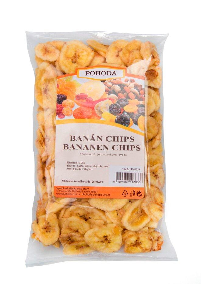 500 g Banánové chipsy