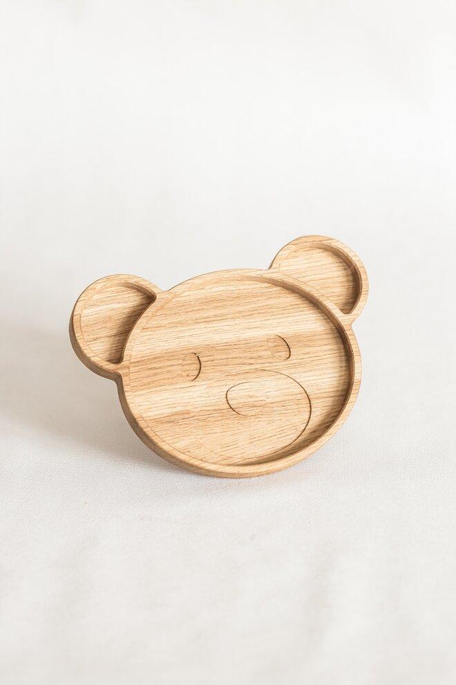 Detský drevený tanierik (macko)
