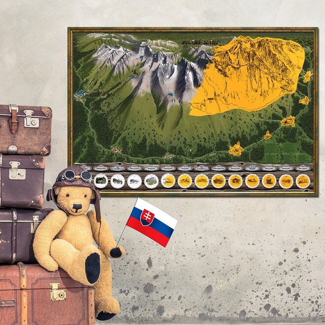 Stieracia mapa Vysoké Tatry Deluxe XL