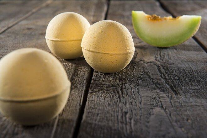Šumivá bomba do kúpeľa - žltý melón