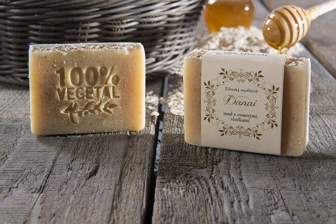 Mydlo - med s ovsenými vločkami