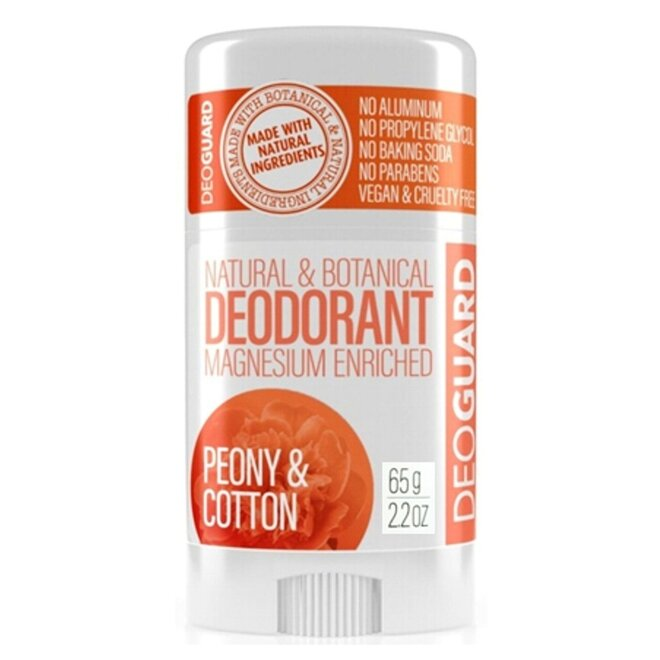 65 g Tuhý prírodný dezodorant s magnéziom (pivónia a kvet bavlny)