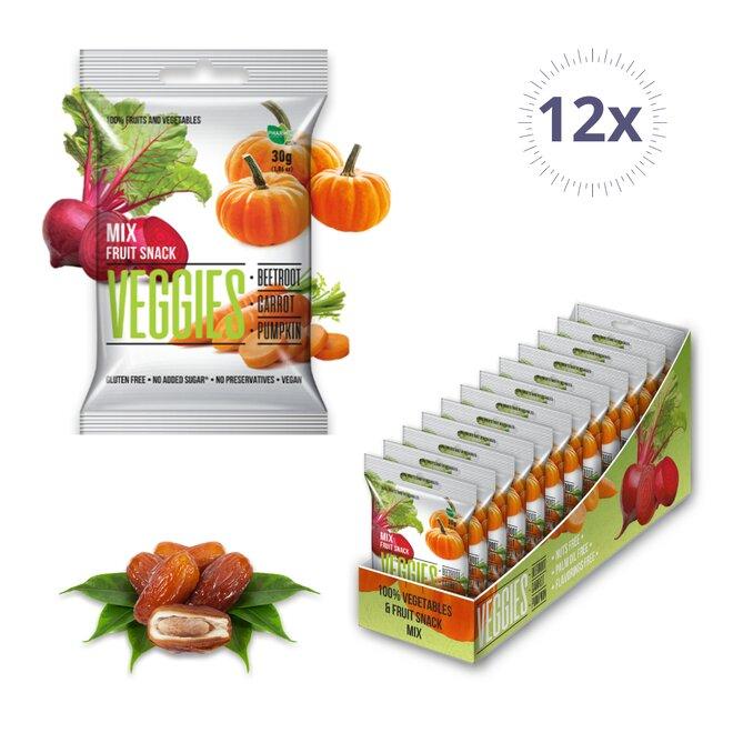 12 × 30 g Ovocno-zeleninové kocky Veggies (360 g)