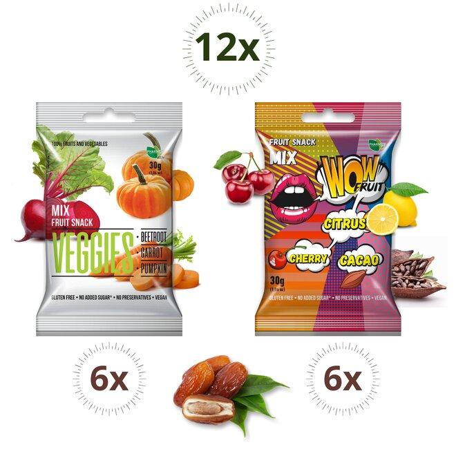 12 × 30g mix kociek Wow a Veggies (360 g)