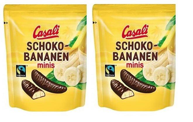 2 x 110 g Casali čoko banániky minis