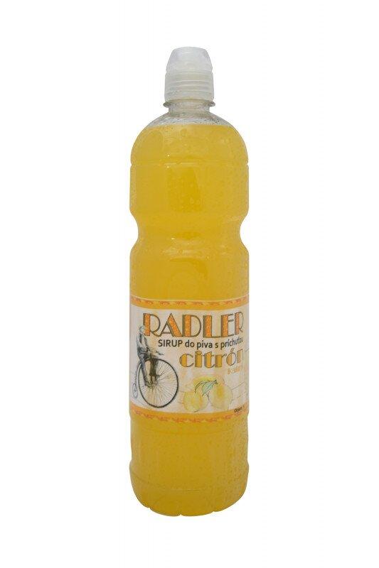 1 l Sirup do piva RADLER slovenskej výroby (citrón)