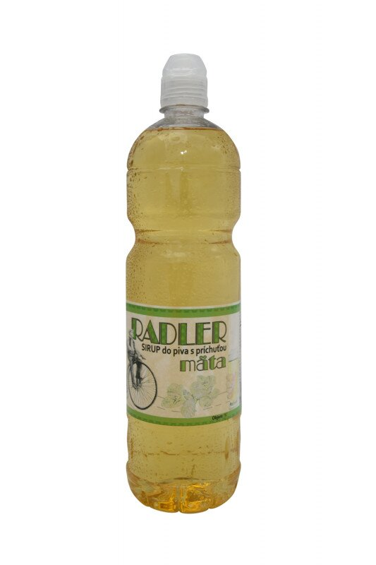 1 l Sirup do piva RADLER slovenskej výroby (mäta)