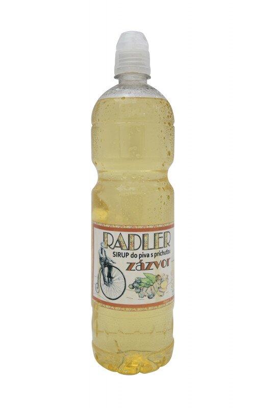 1 l Sirup do piva RADLER slovenskej výroby (zázvor)