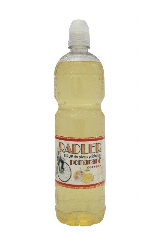 1 l Sirup do piva RADLER slovenskej výroby (červený pomaranč)