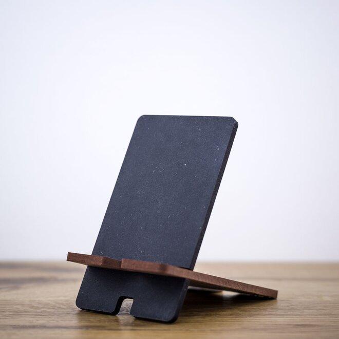Stojan na mobil (čierna + hnedá)