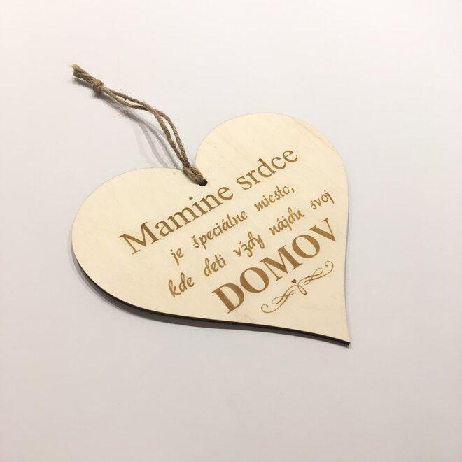 """Dekoračná ceduľa na dvere """"Mamine srdce je špeciálne miesto,..."""""""
