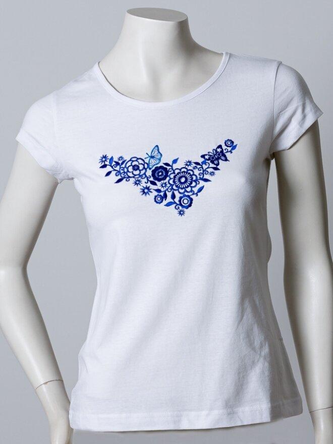 Dámske vyšívané tričko v darčekovom balení MOTÝĽ