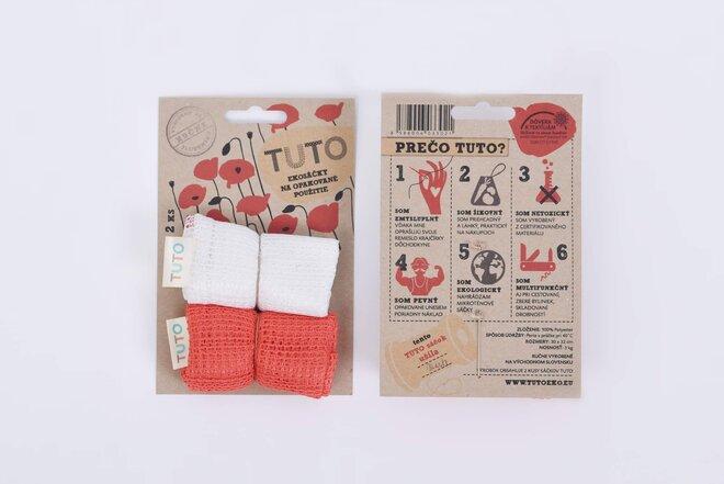 2 x TUTO ekosáčky (červená + biela)