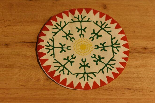 TUTO textilná pokrývka na kuchynské nádoby (30 cm / etno)