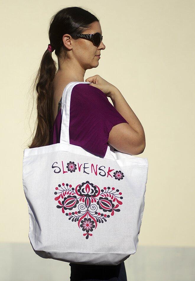 Bavlnená taška so slovenskou potlačou