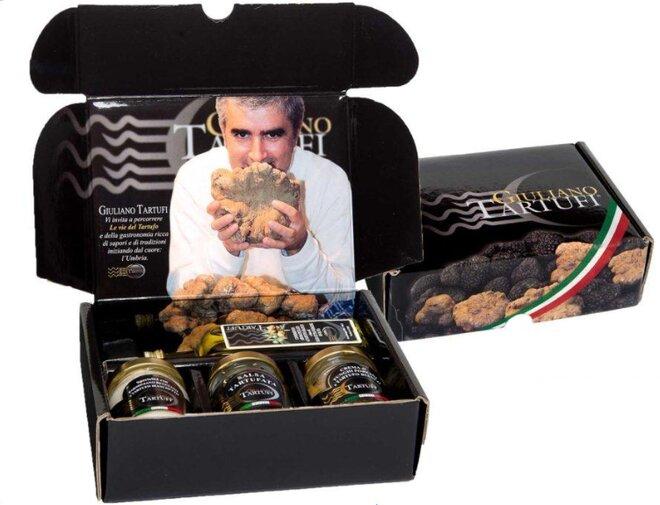 4-dielny Box s hľuzovkovými produktami