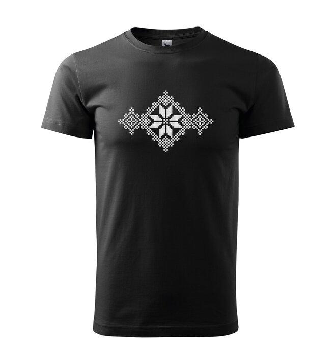 Pánske tričko s ľudovou výšivkou (krížiková)