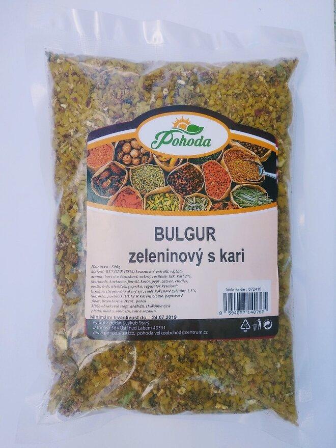500 g Bulgur (zeleninový s kari)
