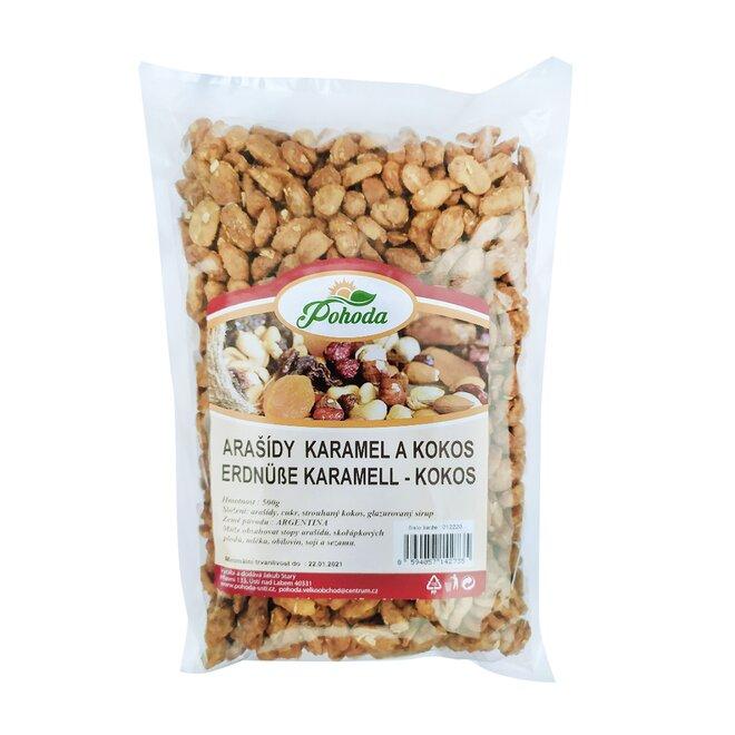 500 g Arašidy v karameli a kokose