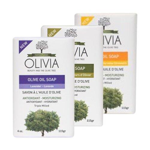 3 x 115 g Balíček tuhých olivových mydiel Olivia