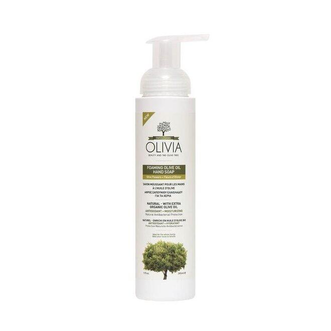265 ml Prírodné olivové penové mydlo Olivia s výťažkom olivových kvetov