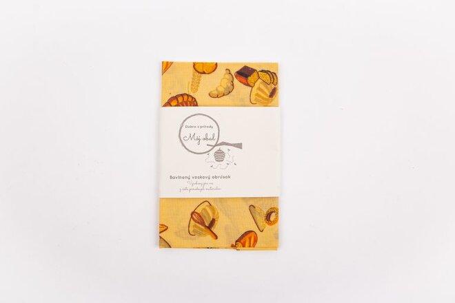 """Ekologický voskový obrúsok """"Chlieb"""" (35 x 35 cm)"""