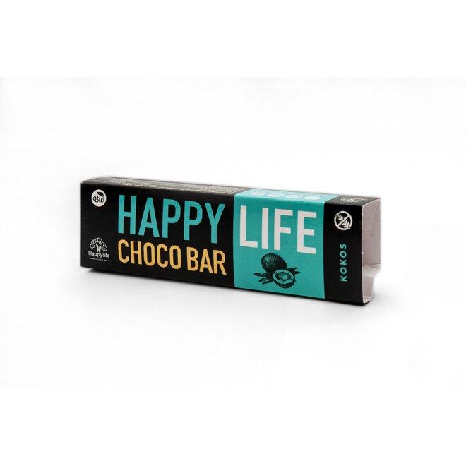 35 g BIO Chrumkavá čokoládová tyčinka s kokosom HAPPYLIFE CHOCO BAR