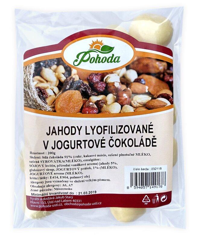 200 g Jahody lyofilizované v jogurtovej čokoláde