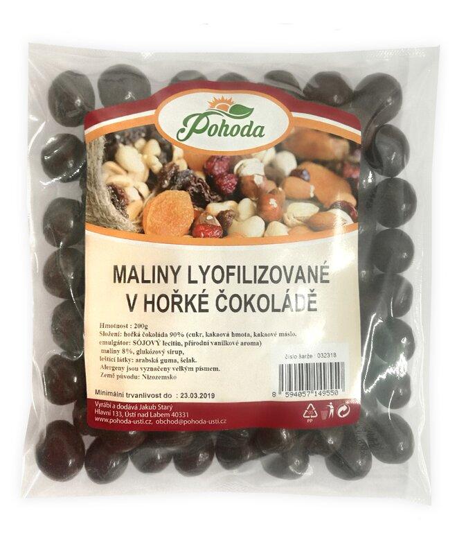 200 g Maliny lyofilizované v horkej čokoláde