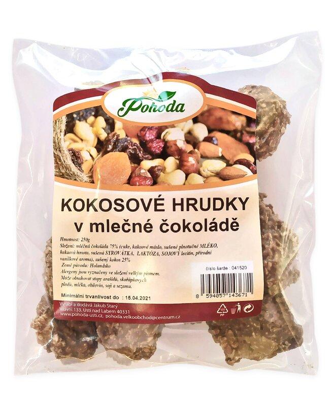 250 g Kokos hrudky v mliečnej čokoláde