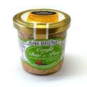 90 g Francúzsky confit z bravčovej pečene (paprika a olivy)