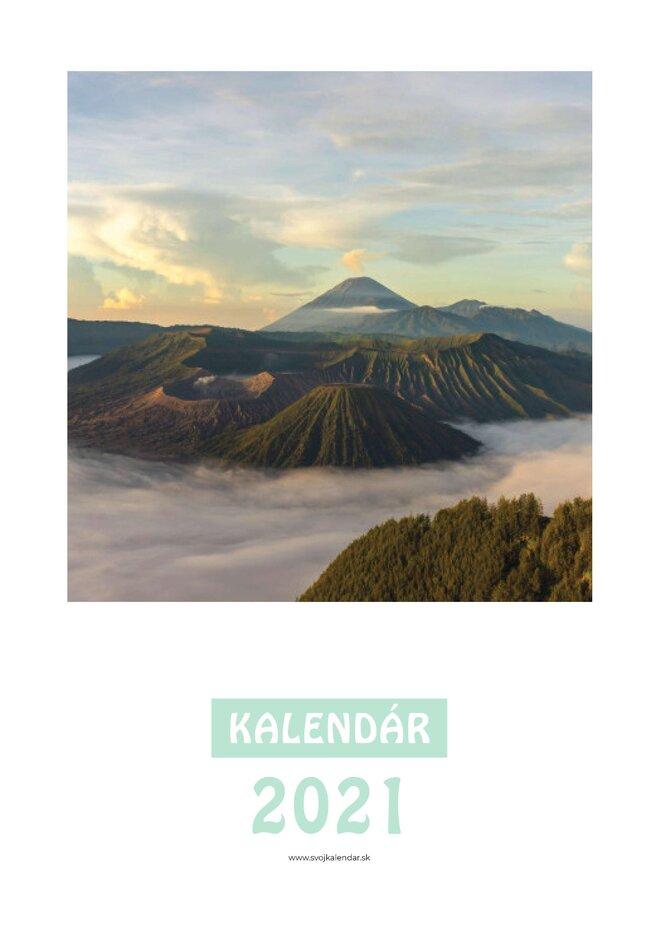 Mesačný kalendár z vlastných fotografií vo formáte A4 / šablóna 12