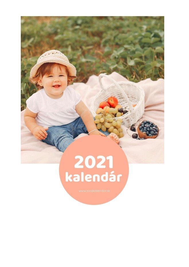 Mesačný kalendár z vlastných fotografií vo formáte A4 / šablóna 15
