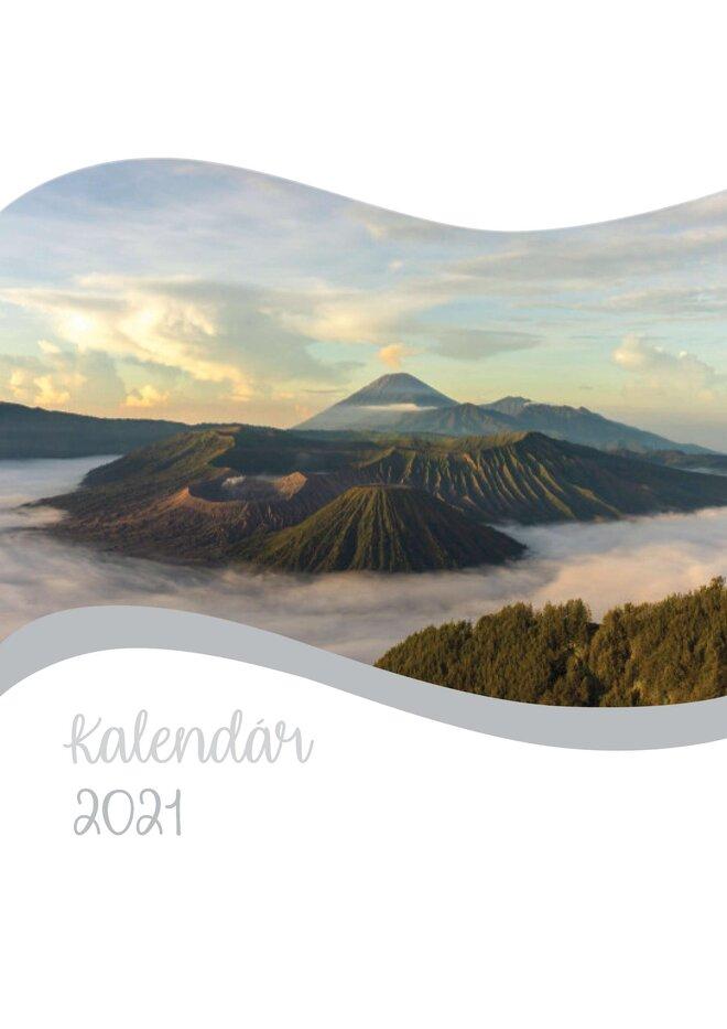 Mesačný kalendár z vlastných fotografií vo formáte A4 / šablóna 14