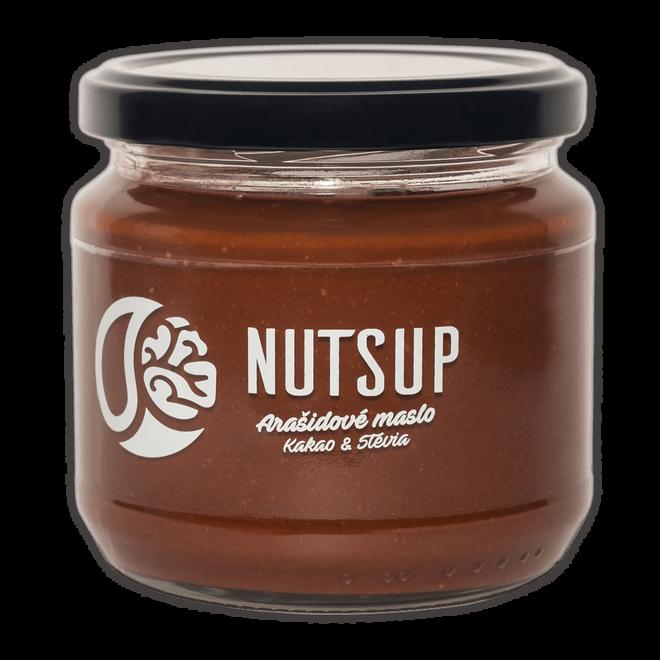 340 g Arašidové maslo kakao & stévia NutsUP
