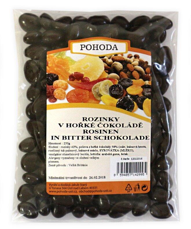 250 g Hrozienka v horkej čokoláde
