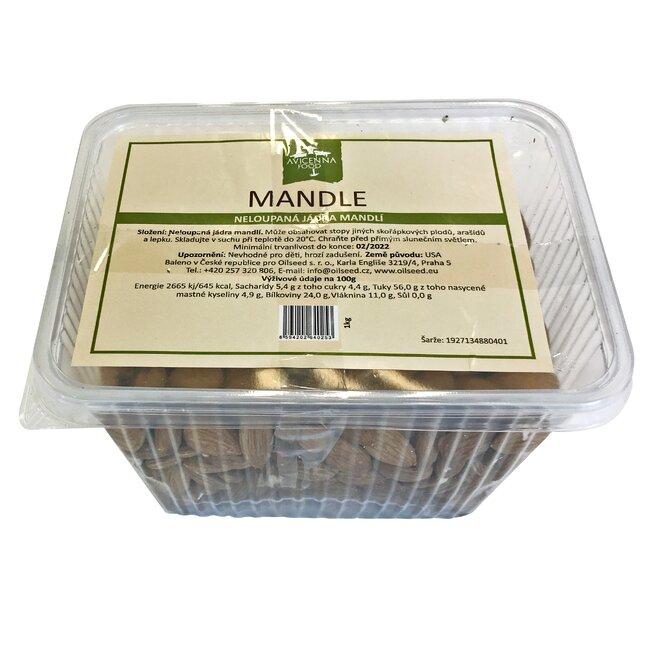 Mandle nelúpané (natural / nepražené / nesolené)