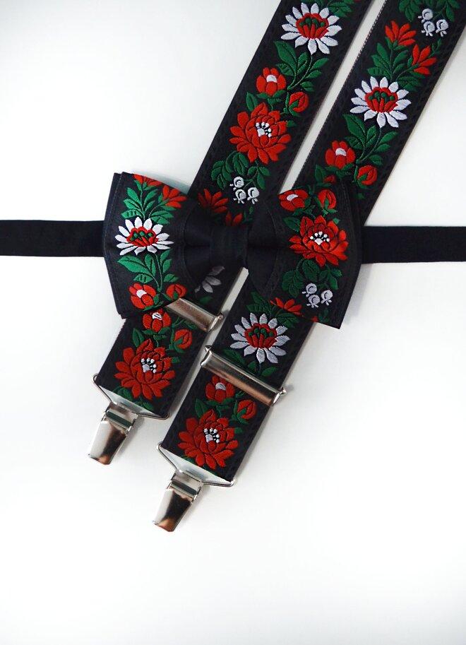 SET: Pánsky folklórny motýlik + pánske folklórne traky