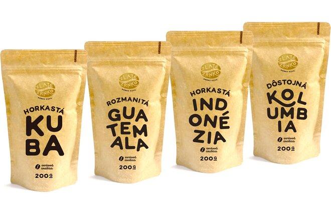 4-dielny Balíček prémiových odrodových káv