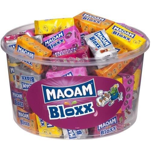 1100 g Žuvacie cukríky MAOAM Bloxx s príchuťou ovocia a coly (50 ks)