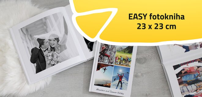 Easy fotokniha Štvorec 23x23 cm