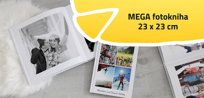 Mega fotokniha Štvorec 23x23 cm