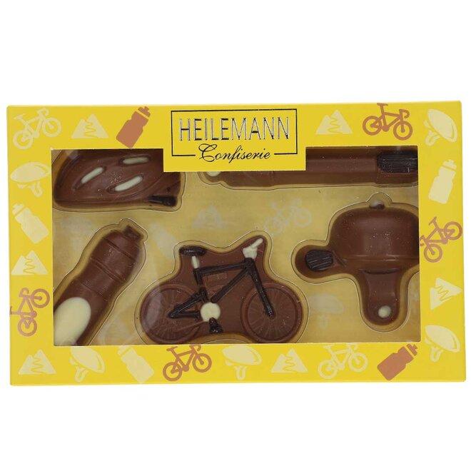 """100 g Čokoládová sada """"Bicykel s výbavou"""""""