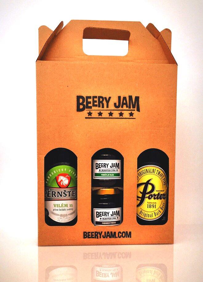 """4-dielne Balenie pív a džemov slovenského výrobcu Beery Jam """"Mix Pack"""""""