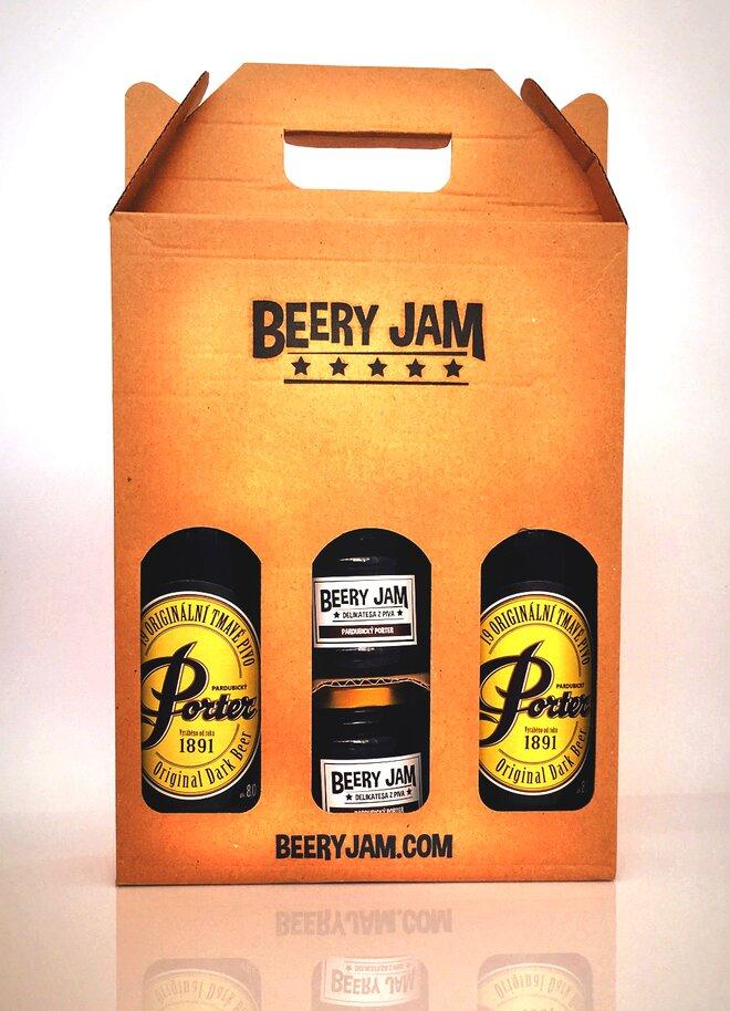 """4-dielne Balenie pív a džemov slovenského výrobcu Beery Jam """"Porter Pack"""""""